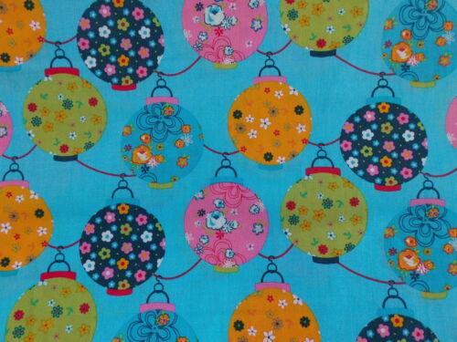 Baumwollstoff Peace lila flieder blau Lampions Punkte Tupfen Meterware 0,30m