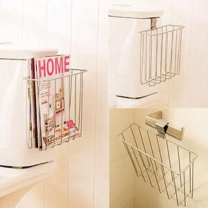 bathroom toilet mount shelf magazine book holder news rack blanket hanging hook ebay