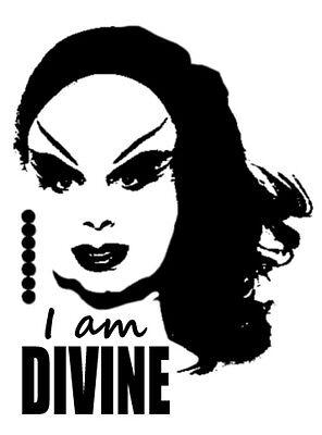 """DIVINE - 5"""" Vinyl Decal Sticker Graphics JOHN WATERS Pink Flamingos Drag Queen"""