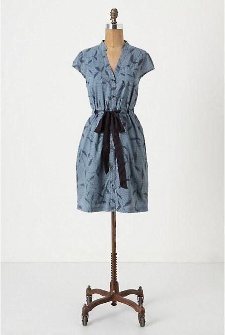NWT Anthropologie Kumo Leaf Cotton Shirt Dress Shirtdress Size 4 4 4 acf969