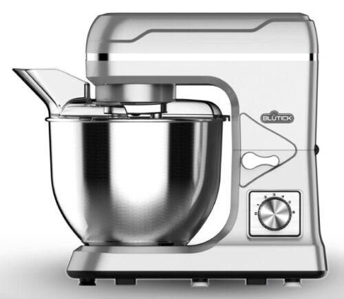 Küchenmaschine 1000W 5L Edelstahl-Rührschüssel Standmixer silber  tC97j