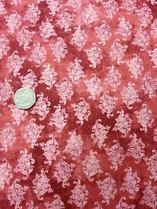 Reflexiones 100/% Tela De Algodón Acolchado Craft RO Gregg tonal Red Floral