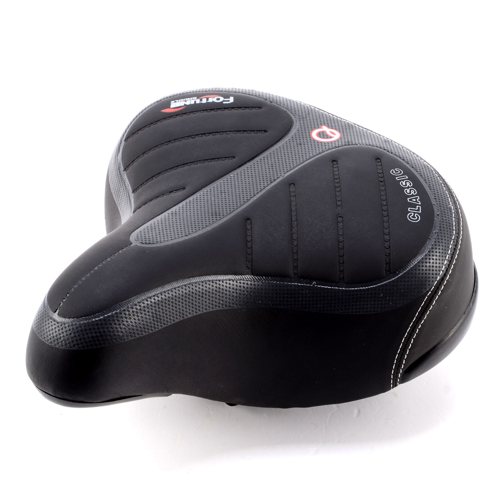 2x Wide Bike Bicycle Gel Comfort Soft Suspension Spring Saddle MTB Padded Seat