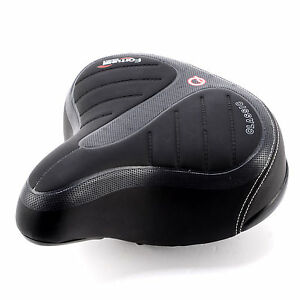 Wide-Bike-Bicycle-Gel-Comfort-Soft-Suspension-Spring-Saddle-MTB-Padded-Seat