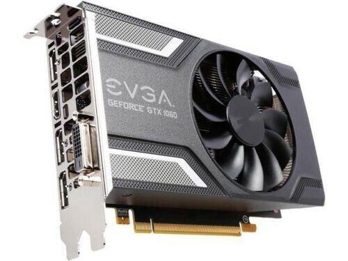 EVGA GeForce GTX 1060 6GB SC GAMING, ACX 2.0 (Single Fan), 06G-P4-6163-KR, GDDR5
