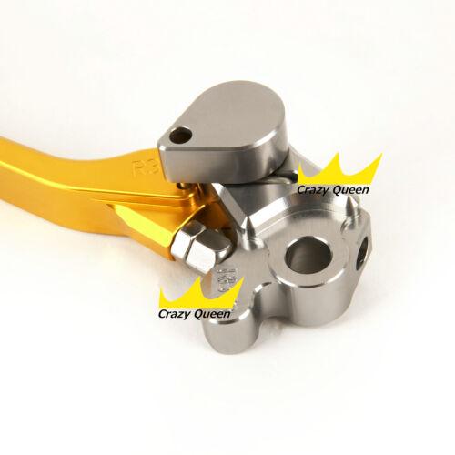 For Suzuki RM125 250 1996-2003 CNC Dirt Pit Bike Pivot Brake Clutch Levers Gold
