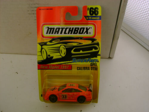 1996 MATCHBOX SUPERFAST #66 RACING 33 OPEL CALIBRA DTM RALLY CAR NEW ON CARD