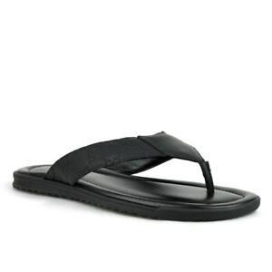 e434bebd81d  525 New Gucci Men s Black Leather Sandals w Guccisisma Pattern ...