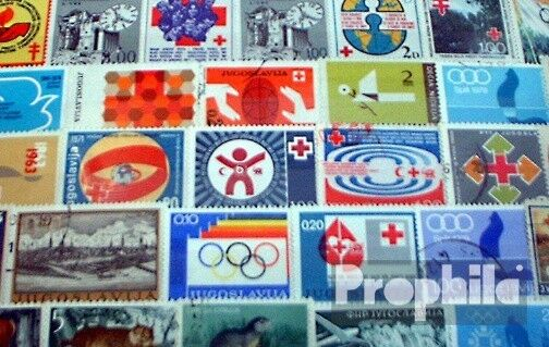 Yougoslavie 50 différents timbres