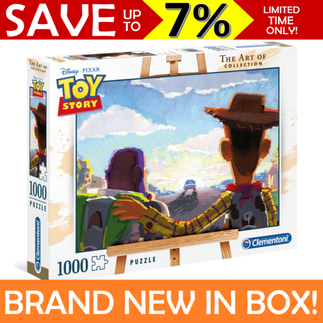 Disney Toy Story Woody Buzz Art Collection 1000 Piece Jigsaw Puzzle Clementoni