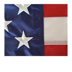100-U-S-Made-AMERICAN-FLAG-4X6-foot-all-weather-nylon-with-embroidered-stars