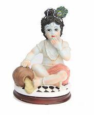 INDIAN HINDU BAL KRISHNA BABY KRISHNA MURTI HINDU STATUE WITH MAKAN