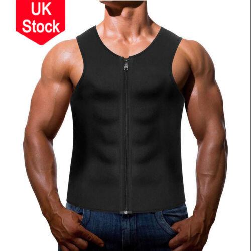 Men Neoprene Sauna Vest Weight Loss Fat Burner Slimming Shaper Top Sleeveless