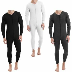 418c6634e4a MENS THERMAL ALL IN ONE SUIT UNDERWEAR SET BASELAYER ZIP BODY SKI ...