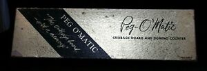 Peg-O-039-Matic-Cribbage-Board-Domino-Counter-50s-60s-Rare-Pegomatic-Peg-O-Matic