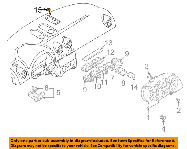 Audi Oem 00 06 Tt Quattro Temperature Sunload Sentinel Light Sensor 8n0907539