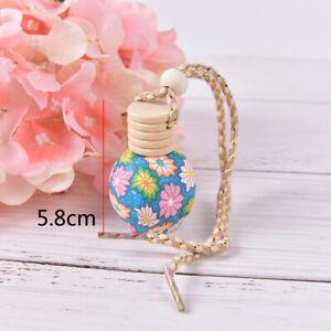 Half-Floral-Art-Hanging-Car-Air-Freshener-Perfume-Diffuser-Fragrance-Bottle-FT