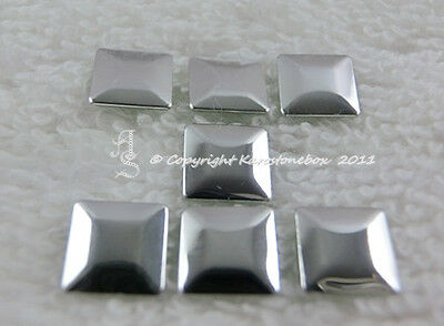 100 Hotfix Metall Formen geriffelt Rund Silber 4 mm aufbügeln Karostonebox