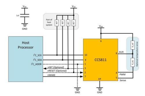 CJMCU CCS811 811 Carbon Monoxide CO Cov Gas Sensors Air Quality Numerical Module