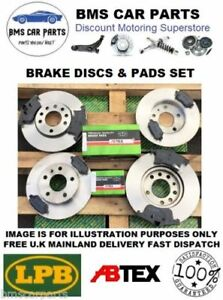 VAUXHALL-ASTRA-H-MK5-FRONT-amp-REAR-BRAKE-DISCS-AND-PADS-SET-NEW-5-STUD-2004-2009