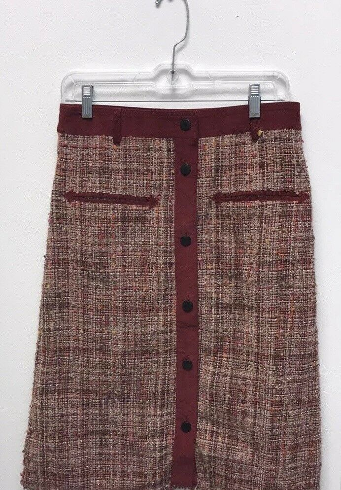 Tweed Button Skirt By Harlyn(S)Sold Out