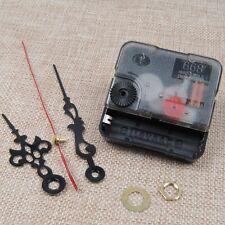 Quartz Clock Movement Mechanism Repair DIY Tool Kit+Black Hands Replacement US