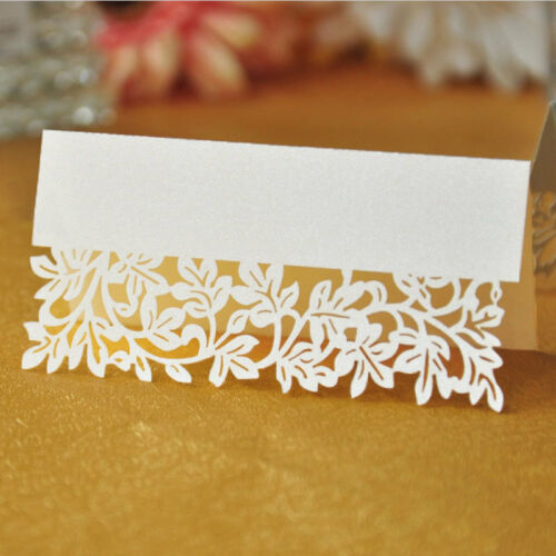 50pcs Leaf Laser Birthday Wedding Party Table Name Place Holder Cards Nice