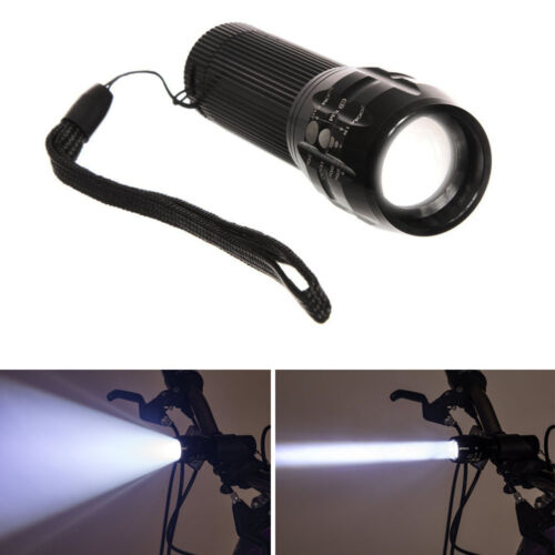 Bicycle LED Flashlight Torch Super Bright with bike mount holder and Handstrap