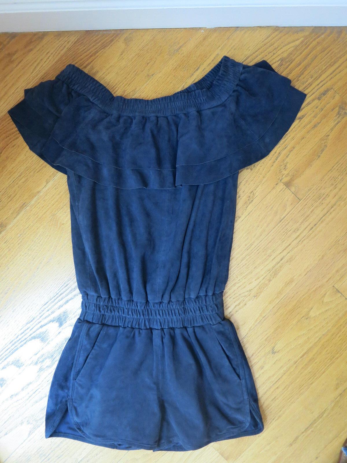 Diseñador REMIX Charlotte  Eskildsen azul Suede Mameluco Talla 32 EE. UU. 0,nuevo con etiquetas   Venta al por mayor barato y de alta calidad.