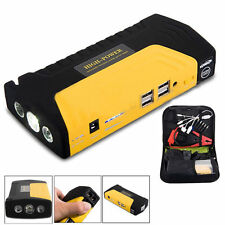 4USB 68800mAh Car Jump Starter Power Bank Battery Emergency Charger Booster LED