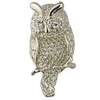 Kirks Folly Garden Owl Pin Silvertone