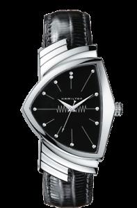 New-Hamilton-Ventura-Black-Dial-Leather-Band-Men-039-s-Watch-H24411732