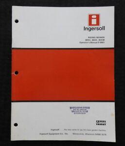 CASE-INGERSOLL-80XC-80XE-80XM-RIDING-MOWER-OPERATORS-MANUAL-VERY-NICE