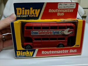 DINKY-TOYS-289-ROUTEMASTER-BUS-ESSO-RED-MADE-IN-ENGLAND