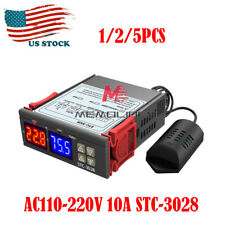 1 5pcs Stc 3028 Ac110 220v 10a Led Temperatureamphumidity Controller Ampsht20 Probe