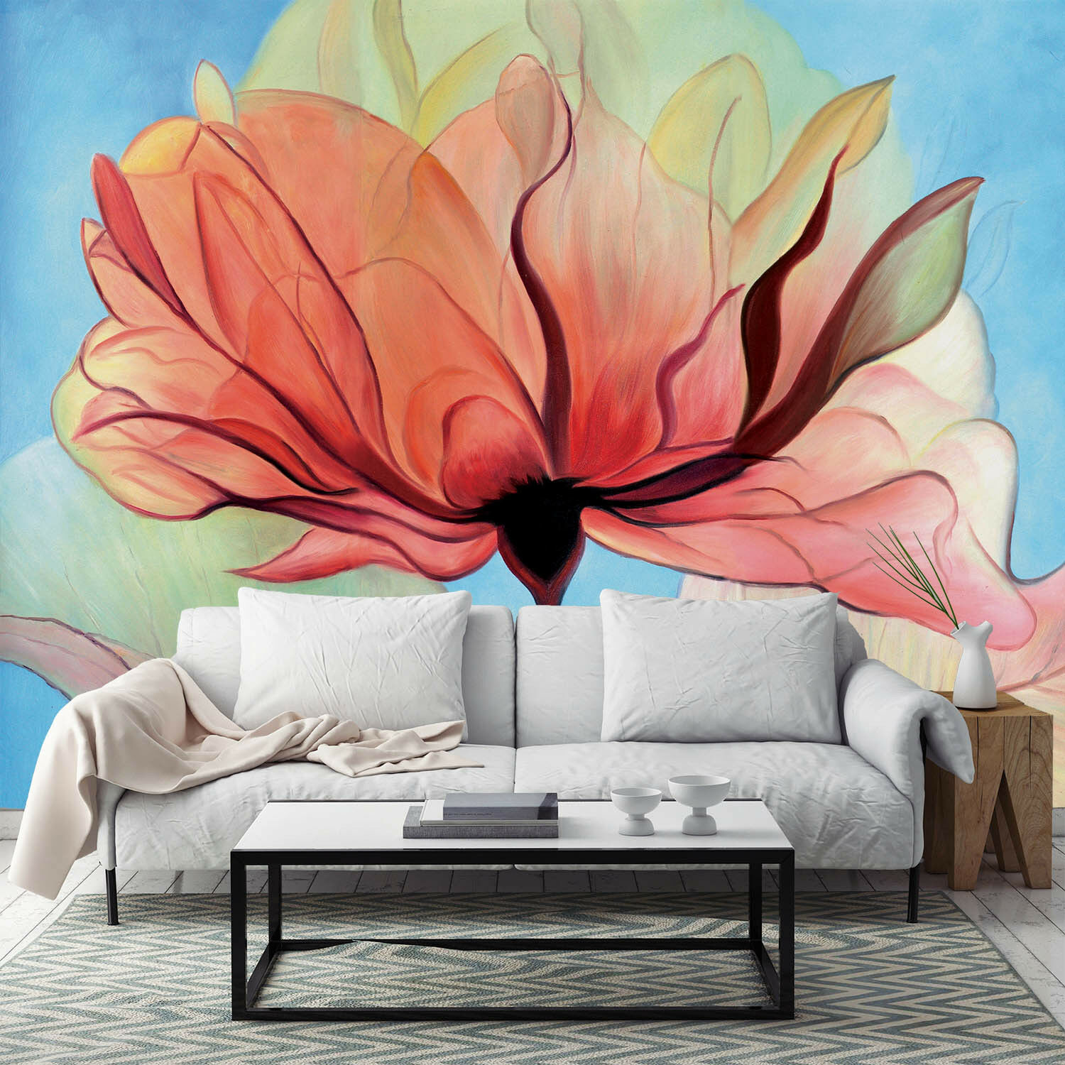3D Hand Painted Flower Art 2984 Wall Paper Wall Print Decal Wall AJ WALLPAPER CA
