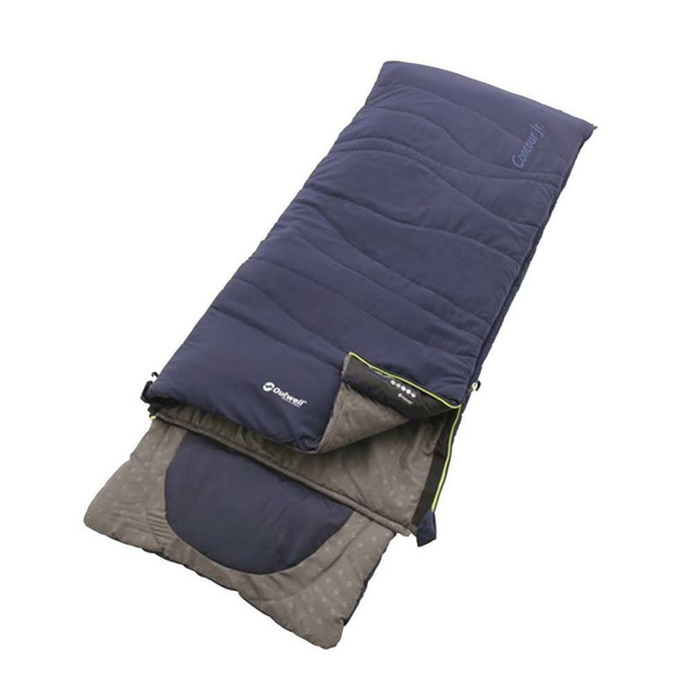 New Outwell Contour Junior Sleeping Bag Camping Outdoors