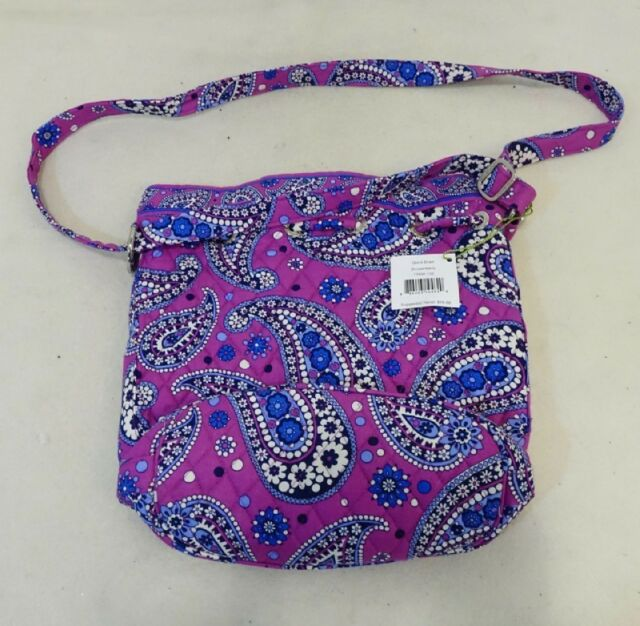 Vera Bradley Quick Draw Boysenberry Cross Body Purse Purple Blue White Bag NEW