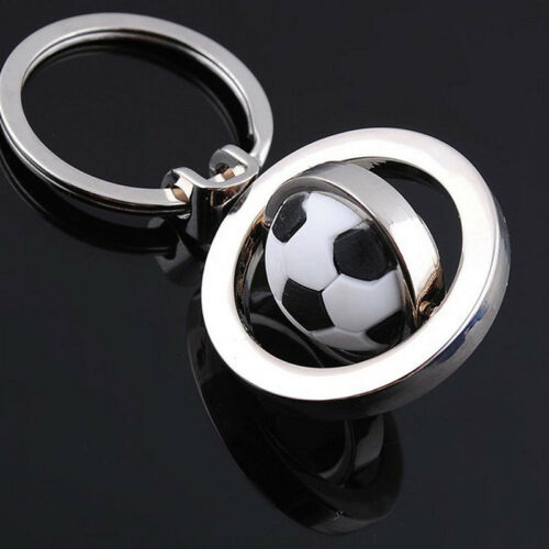 3D Sports Rotating football soccer Keychain Keyring Chain Ring Key ball J