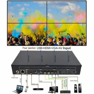 Details about 2x2 4-Channel HDMI VGA AV USB Video Processor TV Projector  Video Wall Controller