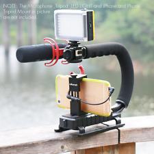 Video Camera Stabilizer Shoe Mount Handle Grip Rig Iphone Canon Nikon Dslr New