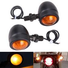 Black Motorcycle Led Turn Signal Blinker Lights For Harley Sportster Xl1200 883