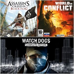 Assassins-Creed-BLACK-FLAG-WatchDogs-World-in-Conflict-Uplay-PC