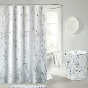 details about marble shower bath curtains black white gold laundry washing basket pop up fold