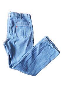 Vintage-USA-Made-Levi-039-s-For-Men-Orange-Tab-33x32-Blue-Denim-Jeans-Retro-Style