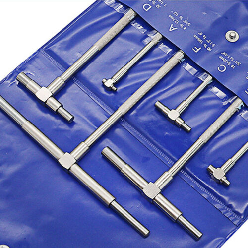 6x Round Telescopic Gauge Adjustable Cylinder Inner Diameter Measure Kit 8-150mm