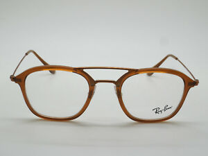 a427f2cd00f NEW Authentic Ray Ban RB 7098 5634 Brown 48mm RX Eyeglasses