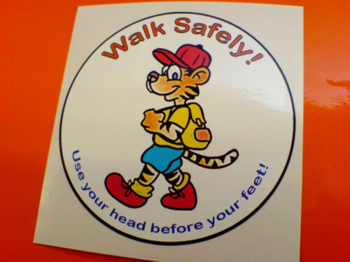 WALK SAFELY Van Car Bumper Caravan Sticker Decal 1 off 90mm