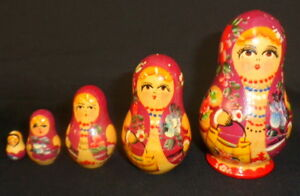3-1-4-5-pcs-RUSSIAN-WOODEN-NESTING-DOLLS