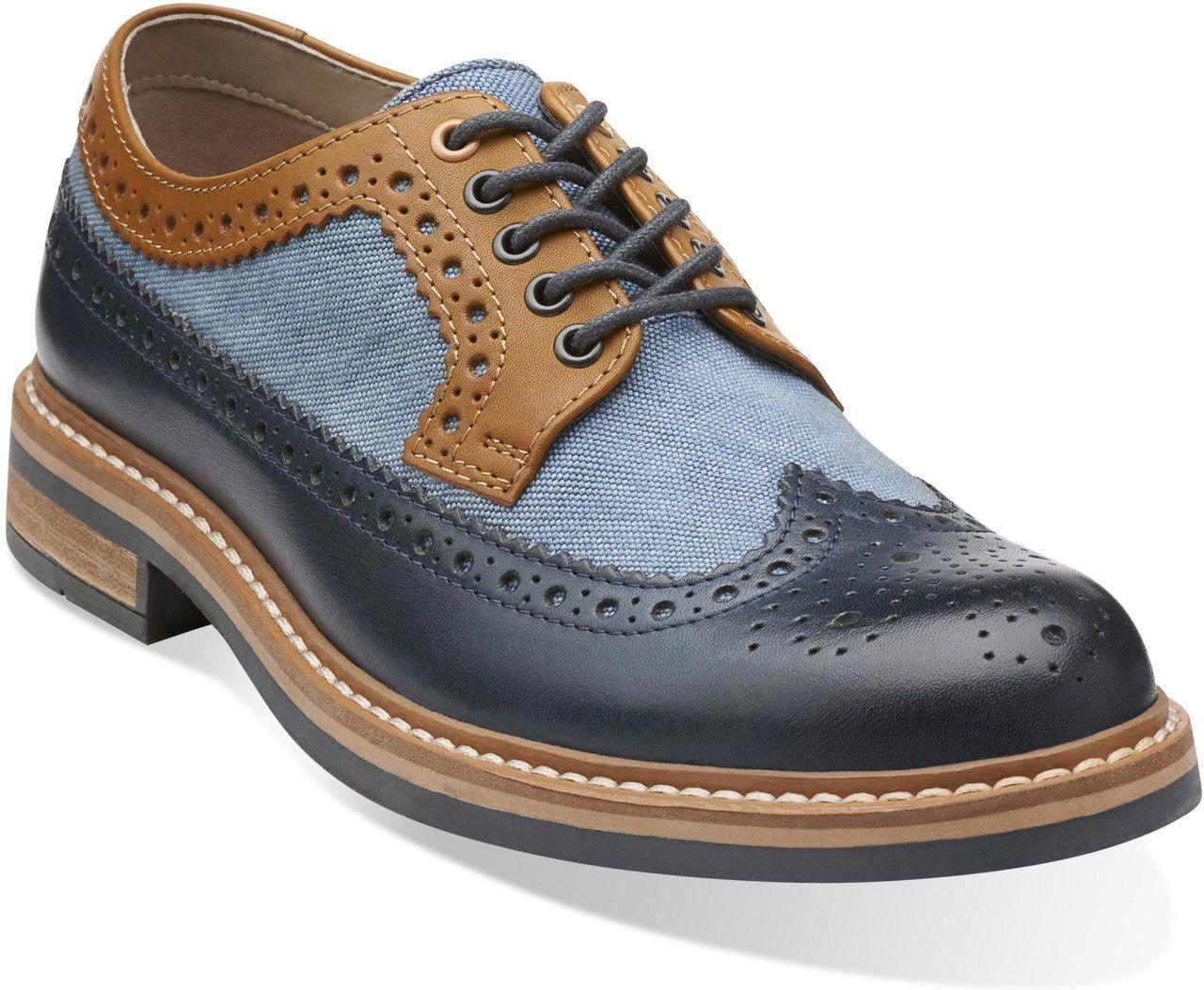 Clarks Herren Darby Limit Marineblau Kombi Trendy & Smart UK 8,9, 10 G    | Won hoch geschätzt und weithin vertraut im in- und Ausland vertraut